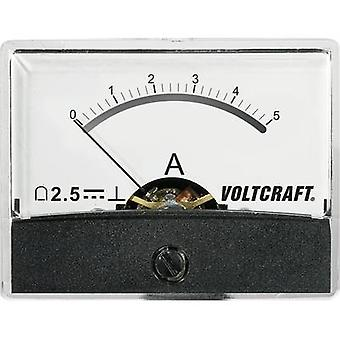 VOLTCRAFT AM-60X46/5A/DC Panel-Messgerät AT THE-60 X 46/5 A/DC 5 A