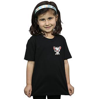 Disney Girls Moana Pua The Pig Breast Print T-Shirt