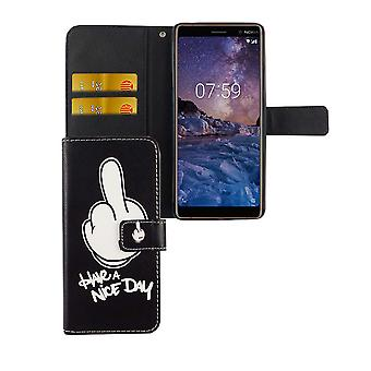 Cell phone cover case for mobile Nokia 7 plus have A nice day black