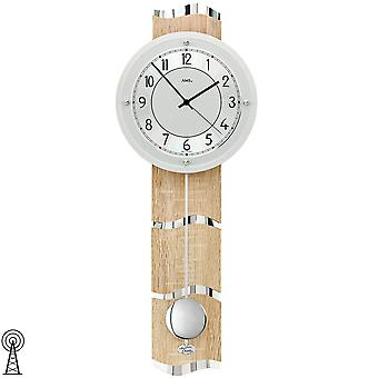 Ceas de perete radio radio ceas de perete cu pendul din lemn de argint Sonoma optica pendul ceas