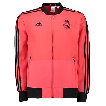 2018-2019 Real Madrid Adidas UCL Presentation Jacket (Red)
