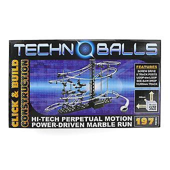 Cheatwell Games Techno ballen 197 stuks - Hi-tech Power gedreven Marble Run