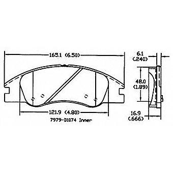 Power Stop 17-1074 Z17 Evolution Plus Brake Pad