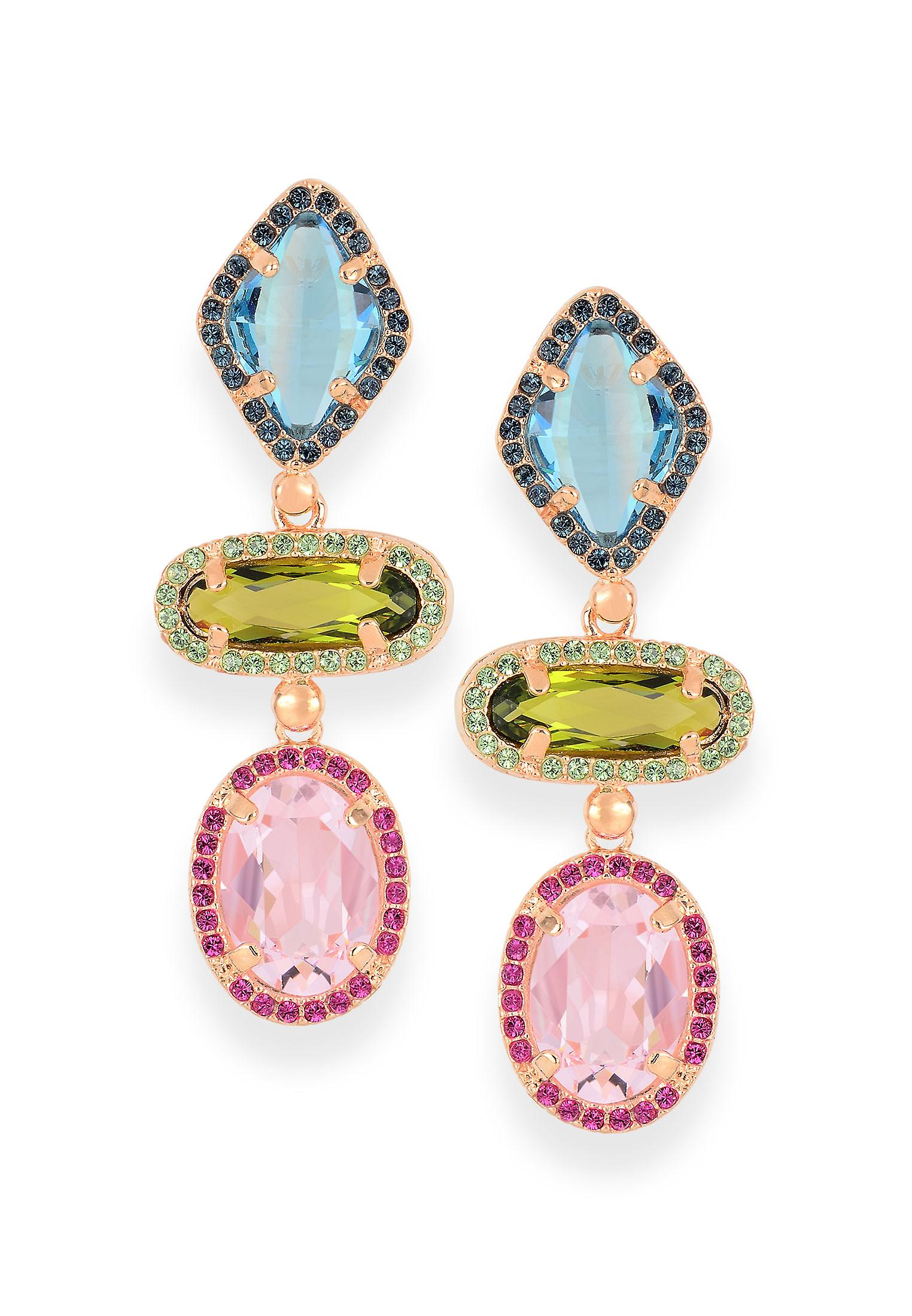 Multicolor earrings with crystals from Swarovski 4662