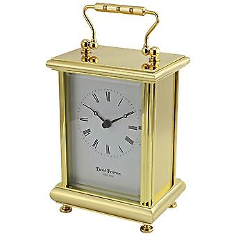 David Peterson Boite Quartz Carriage Clock - Gold