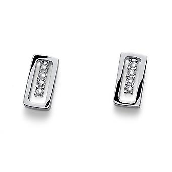 Oliver Weber Post Earring Guard Rhodium Crystal