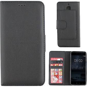 Colorfone Brieftasche Nokia 5 Brieftasche Abdeckung schwarz