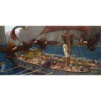 Ulysses and the Sirens, John William Waterhouse, 80x40cm