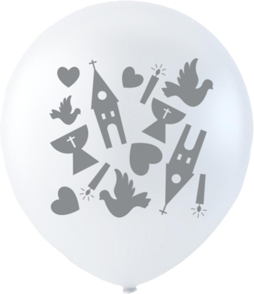 Vita Ballonger Konfirmation 6-pack - 26 cm (10
