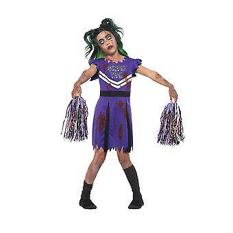 Mørk Cheerleader drakt, Halloween barn Fancy kjole, store alder 10-12