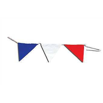 Trznadel trójkątny niebieski, czerwony, biały 15M.