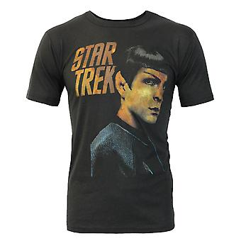 Junk Food Star Trek Spock Portrait Men's T-Shirt Black