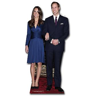 Prince William og Kate Middleton (Royal bryllup 2011) Lifesize papp åpning / Standee