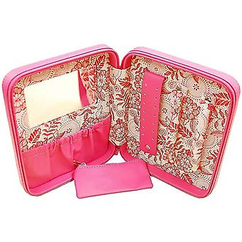 "Mele Ladies ""Susan"" Funky Pink Leatherette Jewellery Case Ideal For Travel"
