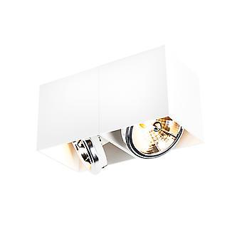 QAZQA Design Spot rechteckiges 2-helles Weiß-Box