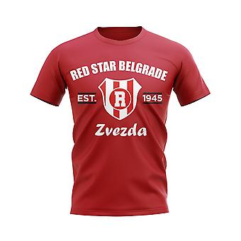 Red Star Belgrade Established Football T-Shirt (Red)