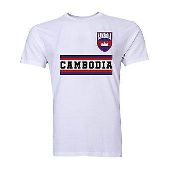 Cambodge Core Football pays T-Shirt (White)