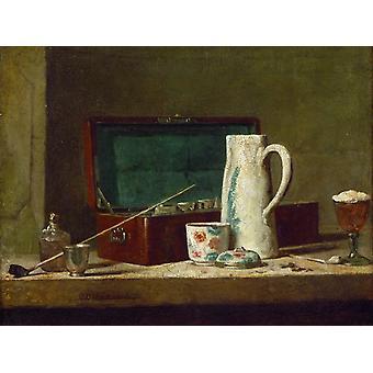 Pijp en kruik, Jean Baptiste Simeon Chardin, 50x38cm