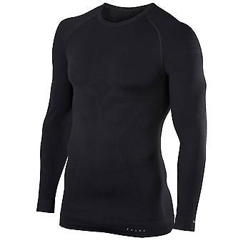 Falke maximalt varm Tight Fit långärmad skjorta - svart