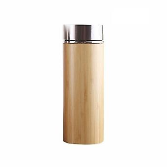Thermos, bamboo and stainless steel-450 ml