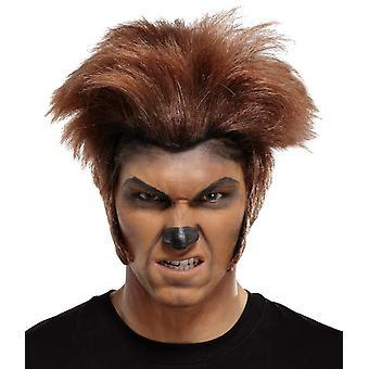 Wolfman perukę dla Halloween Brown