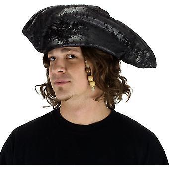 Kapelusz stary Black pirata dla dorosłych