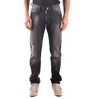 Daniele Alessandrini Ezbc107048 Men's Black Cotton Jeans