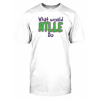 Wat zou Attle doen Mens T Shirt
