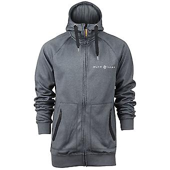 Quiksilver Mens M&W FZ Fleece Jacket - Charcoal/Black