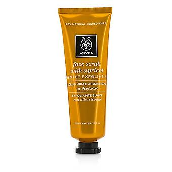 Apivita Face Scrub With Apricot - Gentle Exfoliating - 50ml/1.83oz