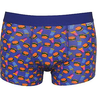 Happy Socks Hamburger & Fries Boxer Trunk, Blue