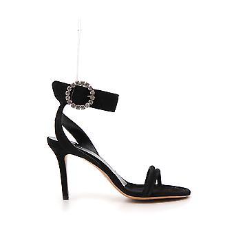 Isabel Marant Sd0261014s01bk Women's Black Leather Sandals
