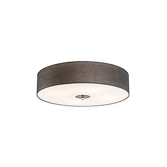 QAZQA Country Ceiling Lamp Grey 50cm - Drum Jute