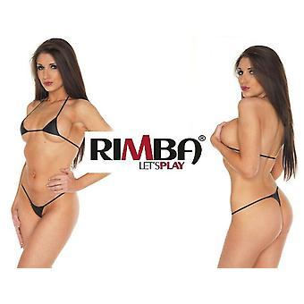 Rimba Lingerie' Black Leather Spider Bikini (R094)