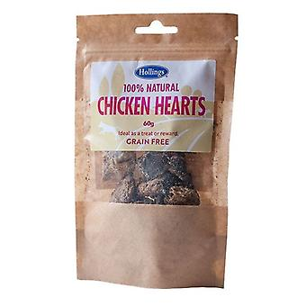 Hollings 100% Natural Grain Free Chicken Hearts 60g