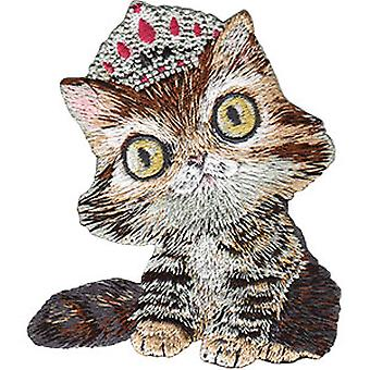 Patch - Animal Club - Kitty With Tiara Iron-On New Gifts Toys p-4469