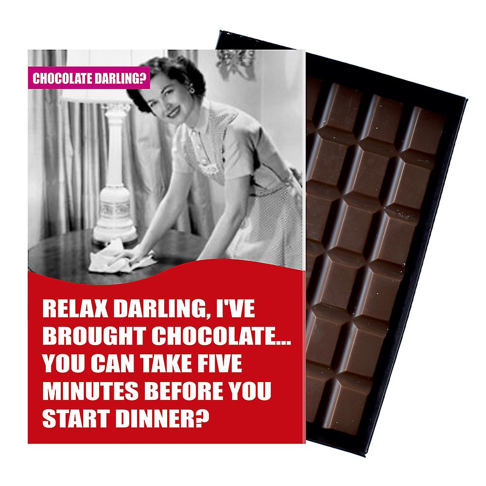 Funny Birthday Gift For Women Girlfriend Wife Boxed Chocolate Greeting Card Present CDL105