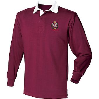 Army Air Corps Veteran - Licensed British Army Embroidered Long Sleeve Rugby Shirt