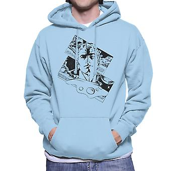 Flash Gordon Comic Head Silhouette Men's Hooded Sweatshirt