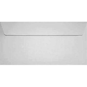 White Peel/Seal DL Coloured White Envelopes. 120gsm FSC Sustainable Paper. 110mm x 220mm. Wallet Style Envelope.