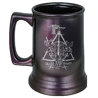 Harry Potter Hogwarts Deathly Hallows Metallic Crest Tankard