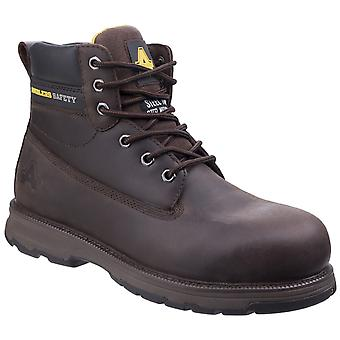 Amblers Veiligheid Mens AS170 Lichtgewicht Full Grain Leder Safety Boot Brown