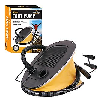 Milestone Foldable Camping Foot Air Pump Yellow 5Litres