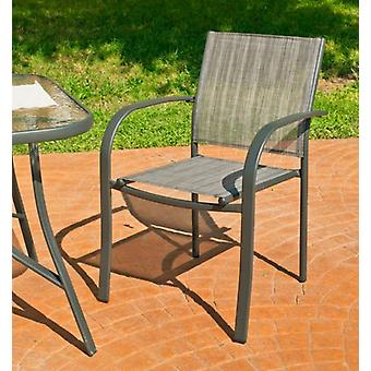 Wellindal Armchair Steel and Textile In Europe 3 Stackable Anthracite (Garden , Others)