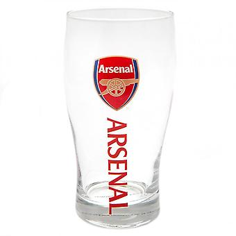 Arsenal FC Crest Tulip Pint Glass
