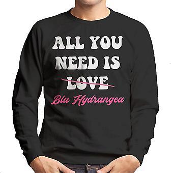 All You Need Is Blu Hydrangea UK Drag Race Men's Sweatshirt
