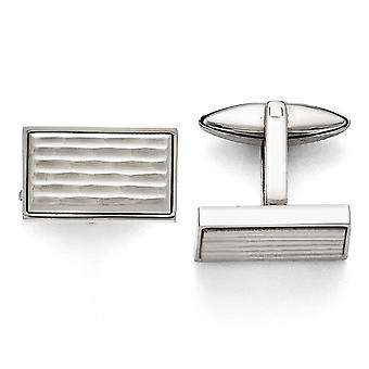 Stainless Steel Polished and Matte Cuff Links Jewelry Gifts for Men