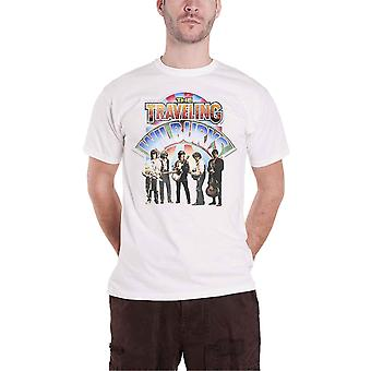 The Traveling Wilburys T Shirt Band Photo Logo new Official Mens White