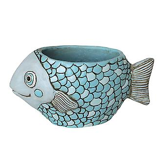 Allen Designs Blue Fish Indoor/Outdoor Planter