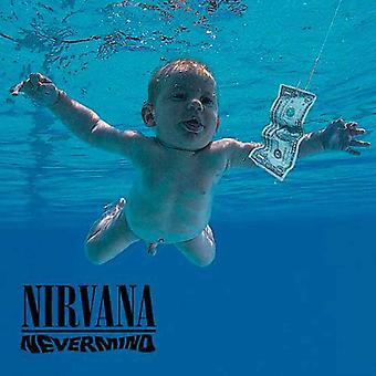 Nirvana Coaster Nevermind Band Logo Official Blue 9.5 x 9.5cm Cork single drink